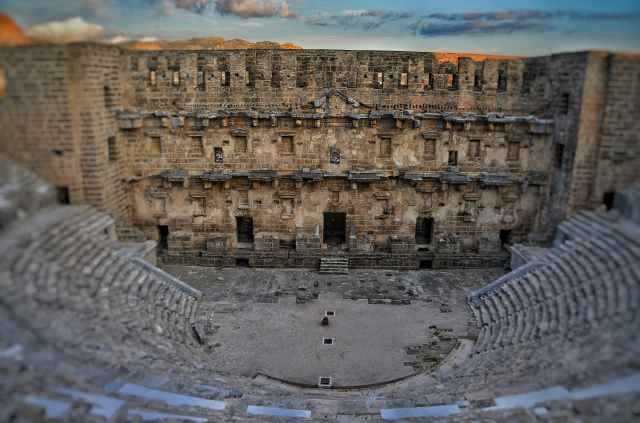 ancient architecture aspendos building